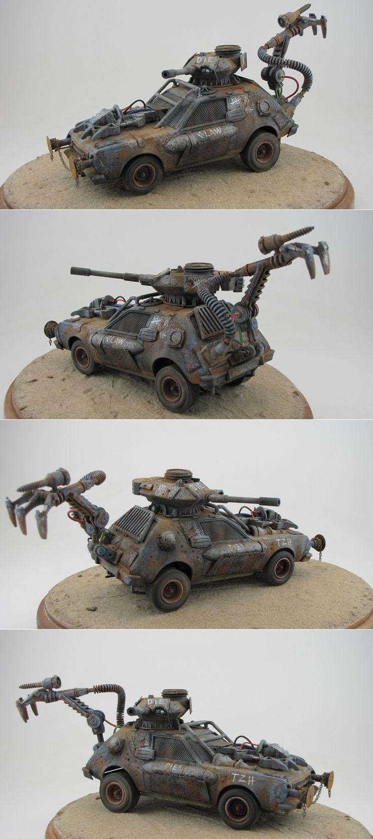 CLAW, the latest in a long line of Toothless Zombie Hunter vehicles. http://doctorcrankyslabratory.blogspot.com/2012/01/little-styrene-little-sand-presto.html