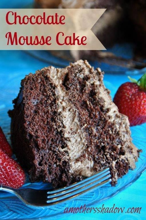 Easy Decadent Chocolate Mousse Cake | A Mother's Shadow  (P)