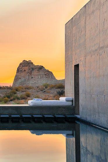 Amangiri suite, Utah. Designed by Marwan Al-sayed Architects, Wendell Burnette Architects and Rick Joy Architects