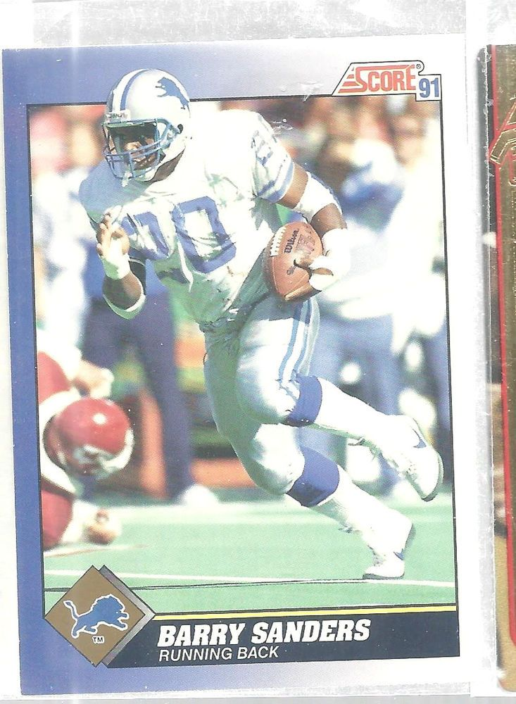 Barry Sanders Detroit Lions #20 Score 1991 Football Card Vintage #DetroitLions