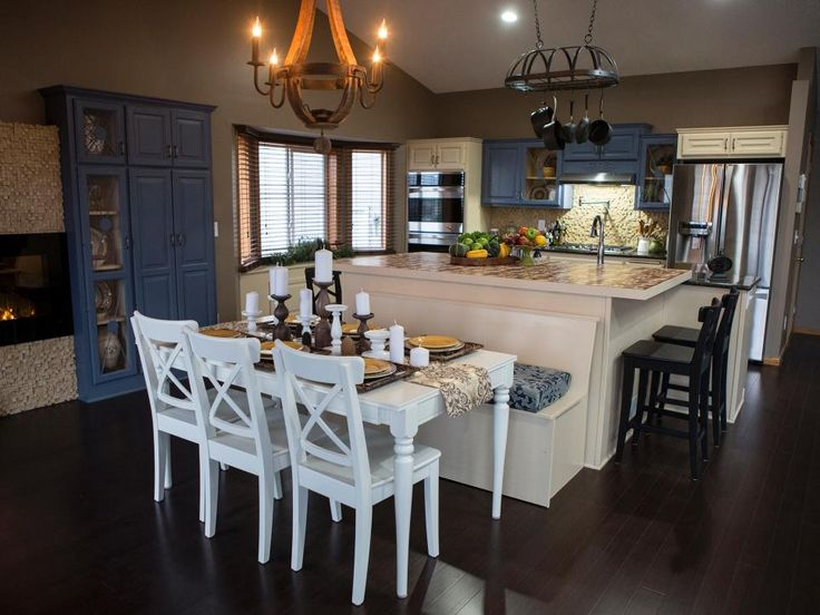 With new appliances and a trendy color scheme, this kitchen is barely recognizable. Host James Young removed one wall, opening up the space and connecting the kitchen to the dining room.