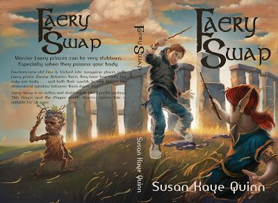 Full print cover for Faery Swap (middle grade fantasy) Susan Kaye Quinn, Speculative Fiction Author