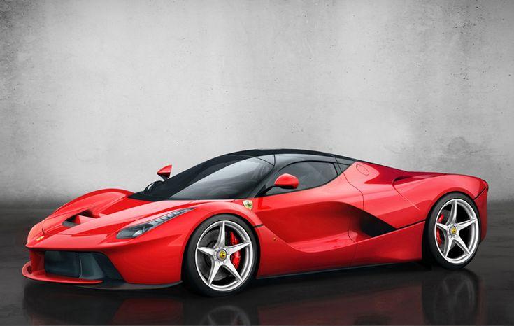 Foto Perfil Ferrari Laferrari Cupe 2013 Red Rojo