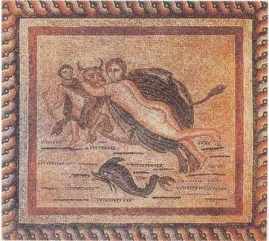 Europa e Toro/Zeus Mosaico della Casa d'Europa a Cos, III secolo d.C. lentini_clip_image004