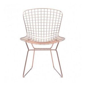 Wire Dining Chair Rose Gold, Set of 2