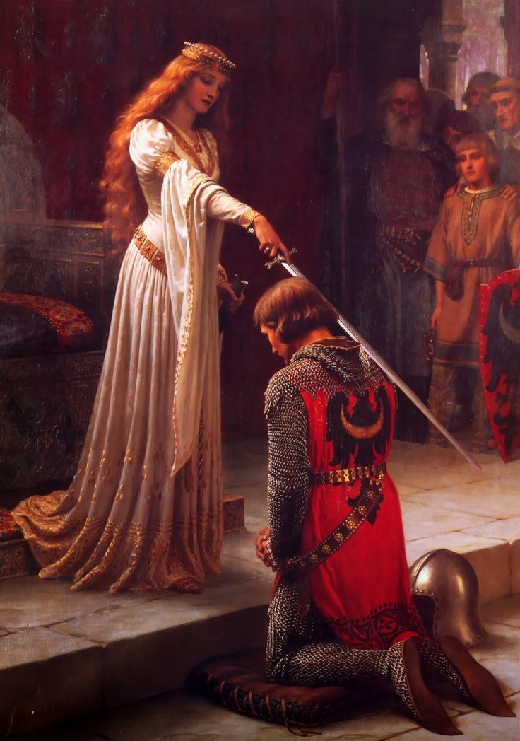 Pre Raphaelite Art: Edmund Blair Leighton's 'The Accolade'