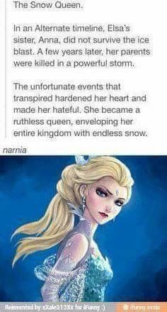 No, the actual ice queen. Jadis come from a different world before narnia