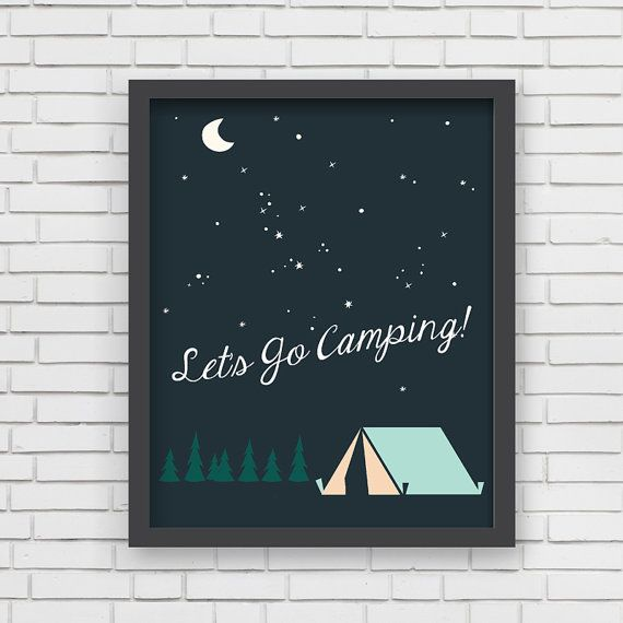 Home Decor Camping Nursery Wall Art  Let's Go by LucyDarlingPrints, $24.99