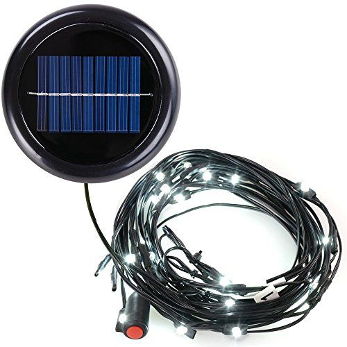 10u0027 8 Ribs Cool White Patio Umbrella Aluminum Led String Light Only Solar,  2015