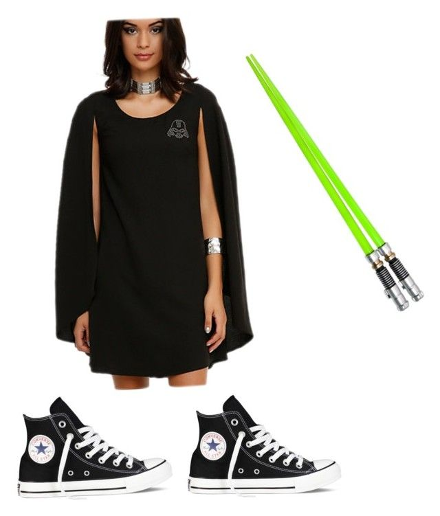 """""""Darth Vader costume"""" by cestiens ❤ liked on Polyvore featuring Converse, women's clothing, women, female, woman, misses and juniors"""