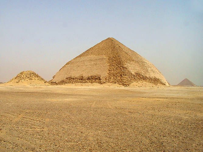 """The Southern face of the so called """"Bent"""" Pyramid. Built by the IV th Dynasty Pharaoh Sneferu. _dahshur_"""