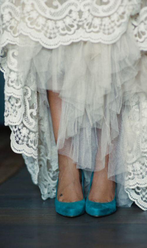 style | blue wedding shoes