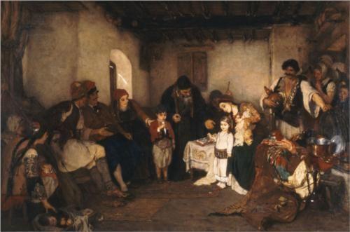Children engagement, 1877 - Nikolaos Gyzis