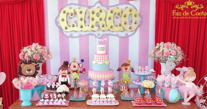 decoração circo rosa