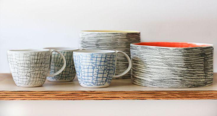 Amanda Shanley (Dunedin) Scribble ceramics