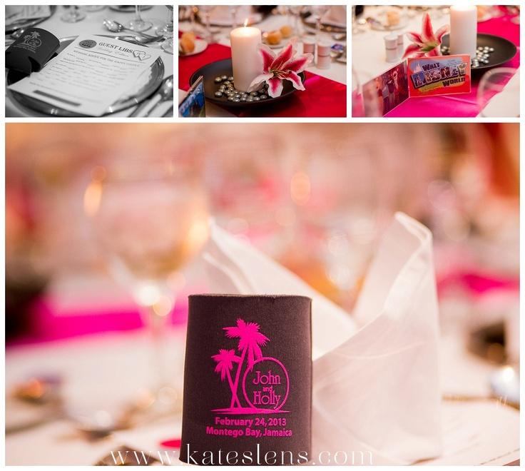 Table Settings; Montego Bay Jamaica Destination Wedding At