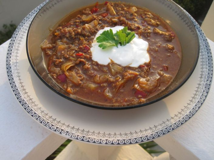 Vitkålssoppa med köttfärs