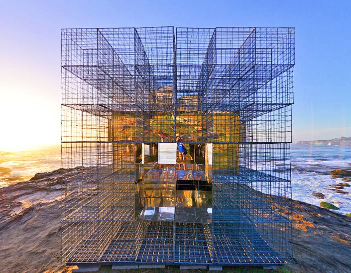 NEON's House of Mirrors Creates a Trippy, Kaleidoscopic View of the Australian Beach Landscape | Inhabitat - Green Design, Innovation, Architecture, Green Building