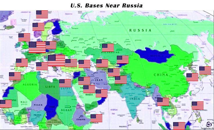 USA Militärbasen Nahe Russland