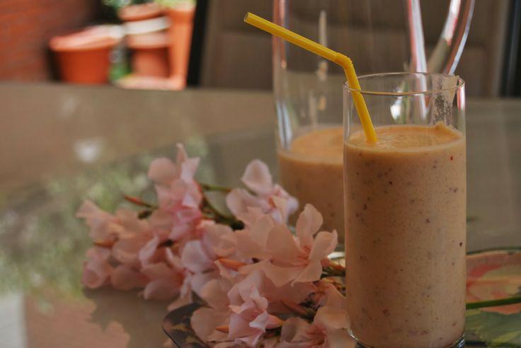 Receta de smoothie de mango y nectarina!! #smoothie #fruit #fresh #delicious