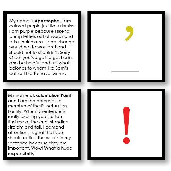 Montessori 123 - Punctuation Stories - Montessori Materials
