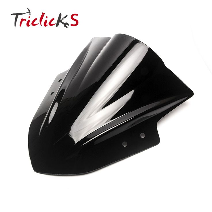 check price triclicks motorcycle windshield windscreen abs plastic black triangle wind shield #motorcycle #windshields