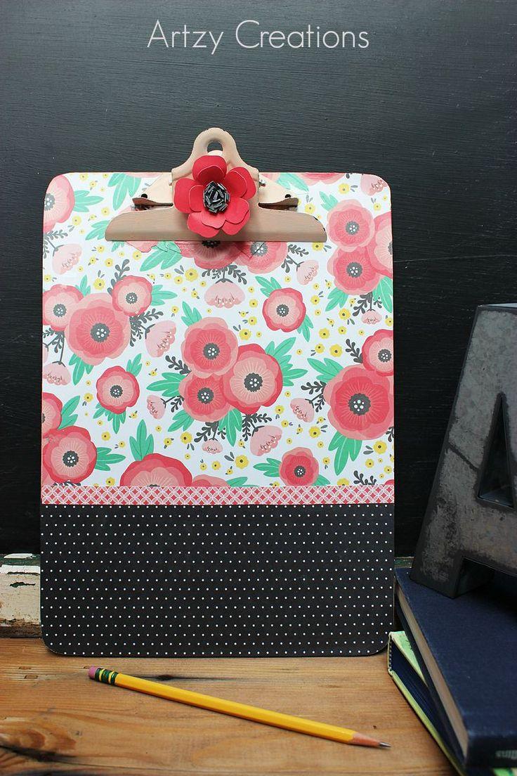 Super Cute Back to School Teacher Clipboard! Perfect gift idea! -- Artzy Creations for Tatertots and Jello
