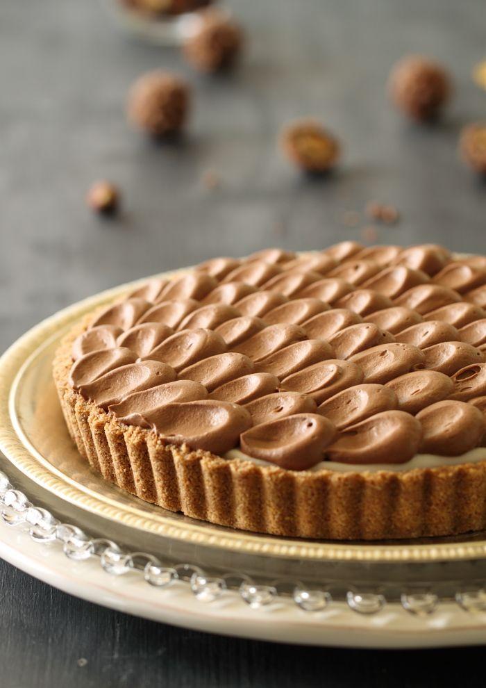 Ferrero rocher cream cheese and chocolate tart!