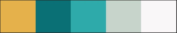 Baby room color palette, nursery color palette, teal, blue-greens, turquoise, gold, gray