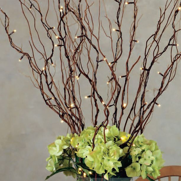 This pack includes five 39 inch natural willow branches with 50 warm white LED lights.   20 inch lead wire.  brbrliDimensions: 39
