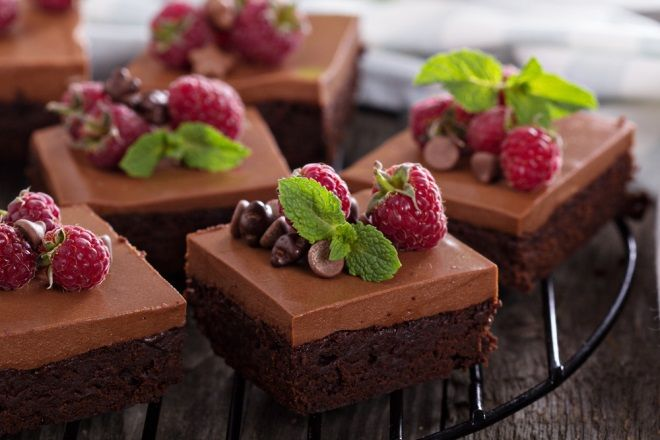 negresa de ciocolată cu zmeură