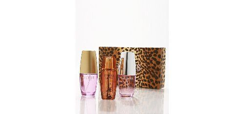 Guess Variety Fragrance Set by Guess by GUESS. $59.95. Guess Variety by Guess for Women. Guess Variety by Guess for Women - 3 Pc Mini Gift Set 1oz Guess EDP Spray, 1oz Guess By Marciano EDP Spray, 1oz Guess Gold EDP Spray. Recommended for casual wear. This product contains a 1 ounce guess eau de parfum spray, 1ounce guess by marciano eau de parfum spray, and 1ounce guess gold eau de parfum spray.