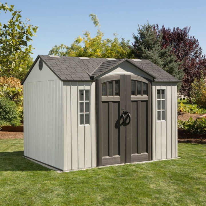 Lifetime 10 X 8 Shed Gray Sam S Club Outdoor Storage Sheds Building A Shed Shed Storage