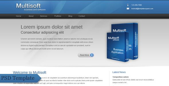 Multisoft - Bussiness and Software Clean Template . Multisoft is a very clean psd template for business, company, products, software and