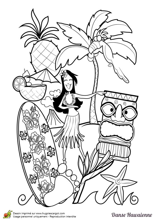 61 best coloriages de danse images on pinterest coloriages dansant et coloriage gratuit - Coloriage hawaienne ...