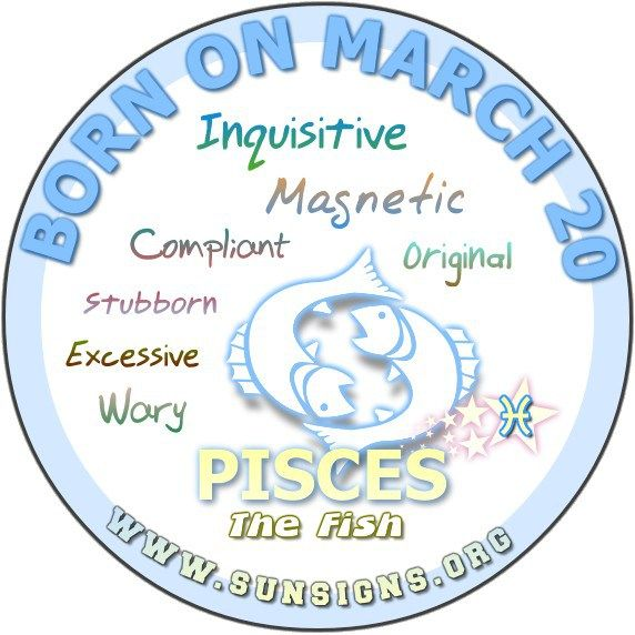 Pisces March 20 - Birthday Horoscope Meanings & Personality Characteristics » Sun Signs
