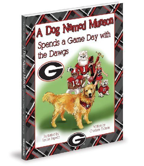 A Dog Named Munson Spends a Game Day with the Dawgs   It's Game Day in Athens!   Munson is going to watch the Bulldogs play.Come along with Munson, the Golden Retriever,for his big day with the Dawgs. Join the excitement of a game day as Munson rides the team bus, leads the Dawg Walk, and watches from Sanford Stadium's sidelines. Cheer with Munson as the Bulldogs score.  GO DAWGS!!
