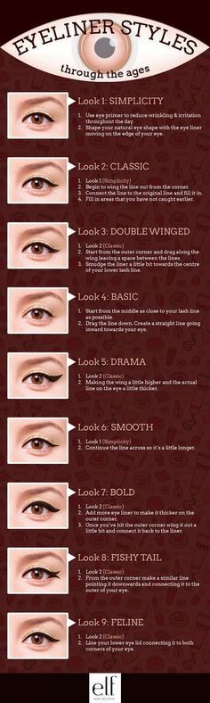 Top 7 Tips For Applying Liquid Eyeliner..Perfect Eyeliner : How To Apply Eyeliner The Right Way..8 Tips for Applying Eyeliner Perfectly..How to properly apply eyeliner..Different ways to wear eyeliner for different occasions..Best way on how to apply eyeliner perfectly..How to Create the Perfect Eyeliner Flick