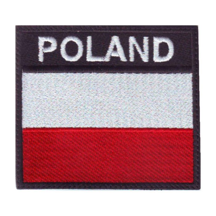 POLAND FLAG BADGE EMBROIDERED PATCH #ThePatchLab