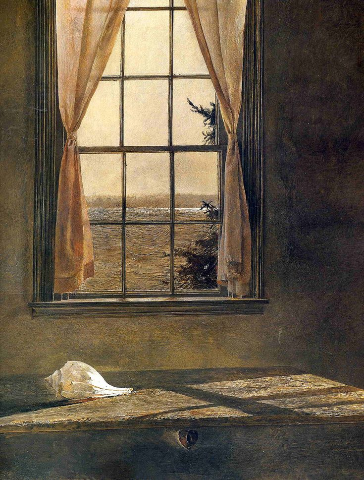 Picture this.. — Andrew Wyeth  Her Room, 1963, (detail). Tempera on...