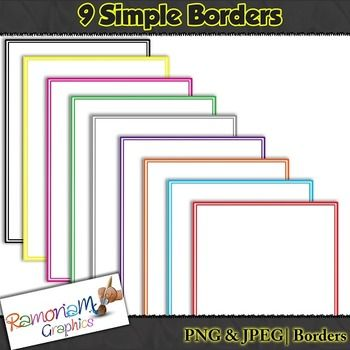 Free clipart! Borders that will not clutter! Small Commercial use ok.