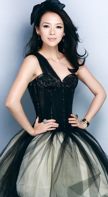 Zhang Ziyi ♥ in black tulle