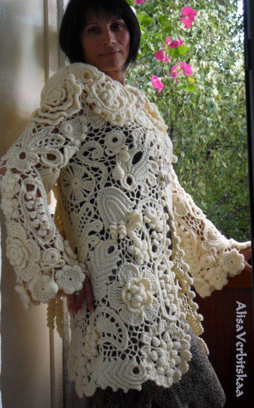 Жакет удлиненный с капюшоном. от AlisaSonya на Etsy