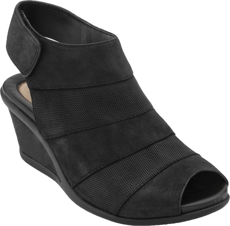 This wedge, sandal bootie is right on trend. You can count on the Earth