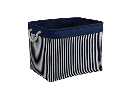 Tcafmac Large Navy Basket Decorative Fabric Storage Conta Https Www Amazon Com Dp B076zqsj7m Closet Storage Bins Storage Bins Organization Storage Baskets