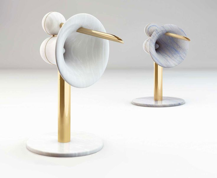 Equilibrium, Audio System (2012) by Arne Faerber, Quarried & polished marble and granite, steel & electric components.   courtesy of J&A Gallery.