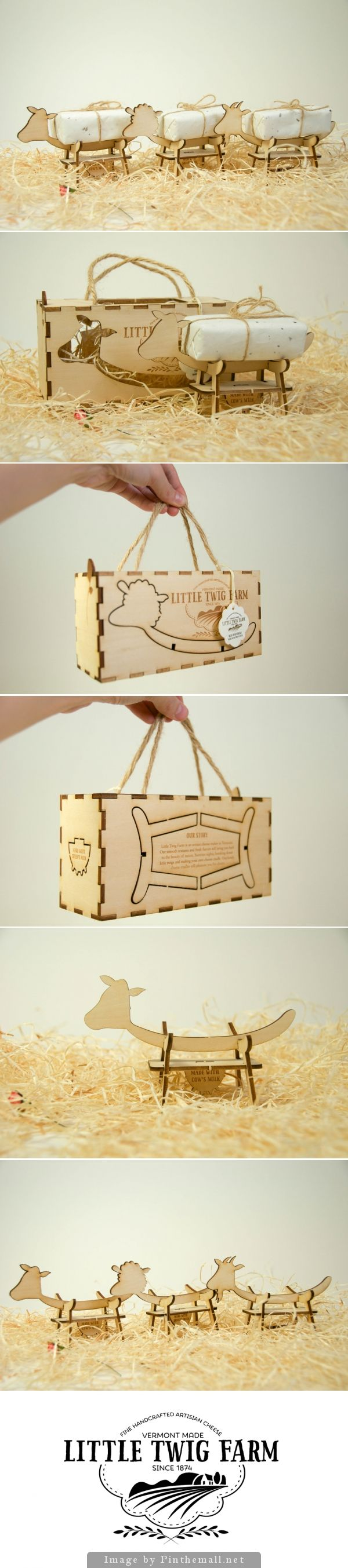 Little Twig Farm is just the cutest student cheese packaging concept curated by Packaging Diva PD