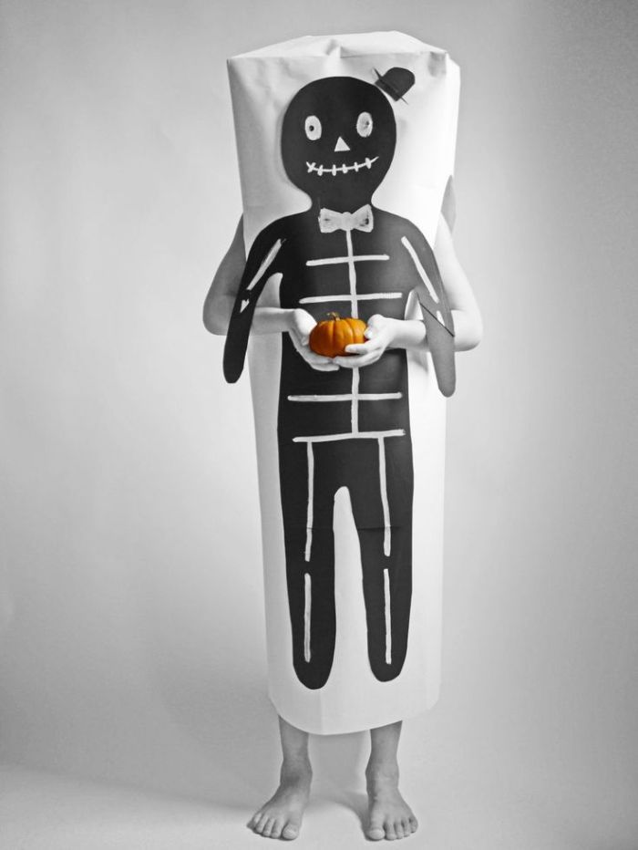 Easy paper Halloween skeleton costume – La maison de Loulou for Hello, wonderful