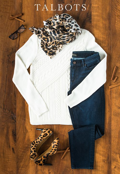 Add a bold print (or two) to your look for fall. They'll be your go-to pieces to dress up a textured sweater and jeans. Complete your outfit with a fun pair of shoes. Classic, cozy, and stylish. | Talbots