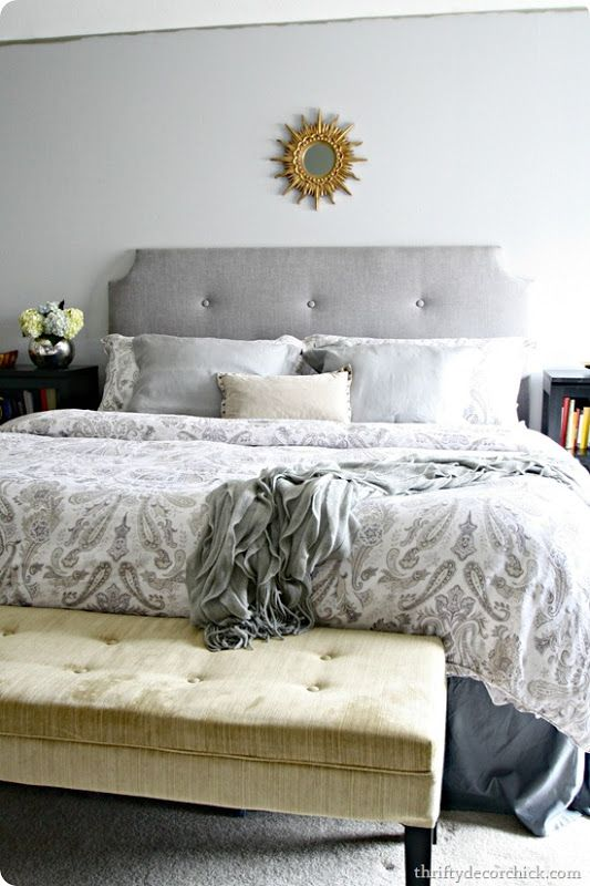 13 best DIY Tufted Headboard Tutorials images on Pinterest Bedroom